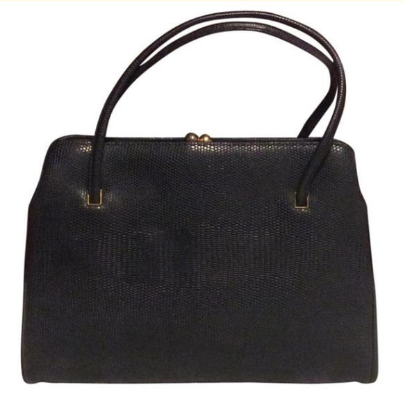 Globe Trotter by Margolin Handbags - Globe-Trotter Vintage Black Leather Satchel